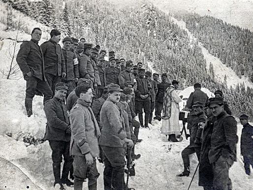 1915. Natale di guerra sotto Valpiana. Un fazzoletto patriottico a Monte Setole