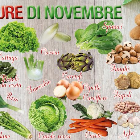 La frutta e le verdure di novembre: chi l'ha detto che in questo mese mancano i colori e i sapori?