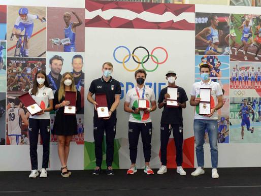 Premiati gli atleti trentini protagonisti alle Olimpiadi di Tokyo, a Tita L'Aquila di San Venceslao