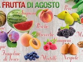 Ecco i frutti e le verdure di stagione che  ci rinfrescano nelle calde giornate di agosto