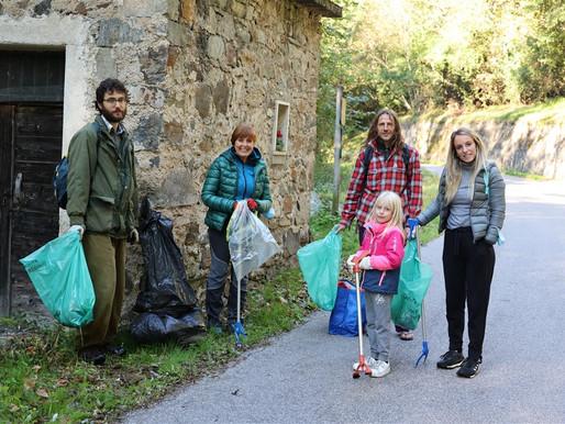 """Oggi la pulizia della riserva  naturale """"Pizè – Baruchelli"""" sul lago di Levico"""