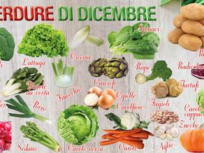 Dicembre: tanta frutta e verdura che ci salvano dagli stravizi delle Feste e dai rigori dell'inverno