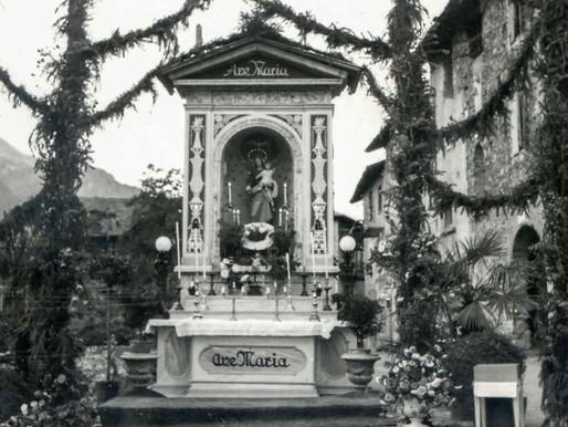 Il capitello della Madonna del Rosario nel rione Tegazzo