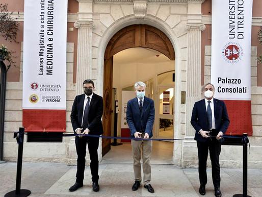 Trento: la facoltà di Medicina e Chirurgia oggi ha trovato casa in palazzo Consolati