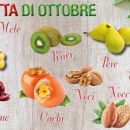 Frutta e verdura con i colori dell'autunno