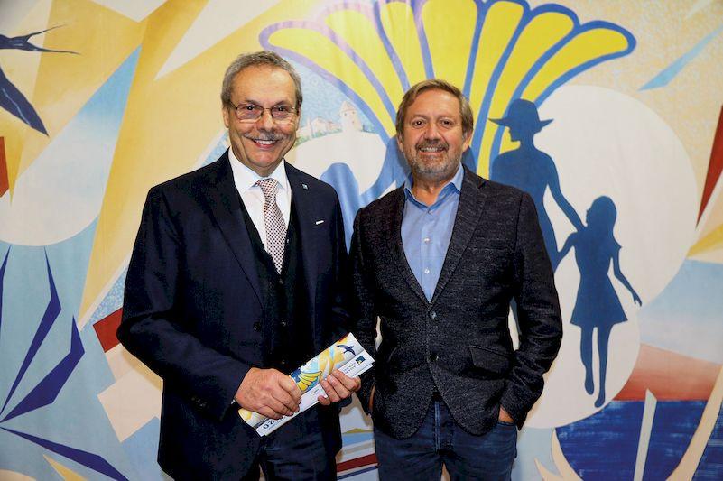 Il Presidente della CR Alta Valsugana Franco Senesi e il sindaco di Pergine Roberto Oss Emer