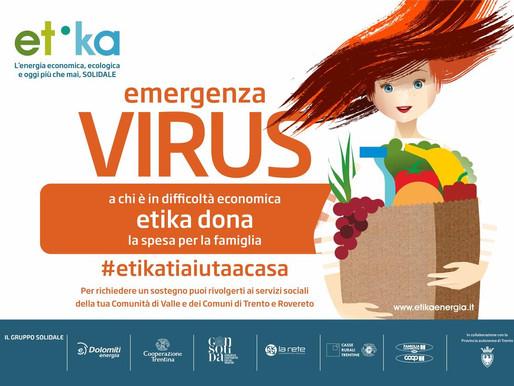 Etika contro l'emergenza sociale: inizia la consegna dei pacchi alimentari