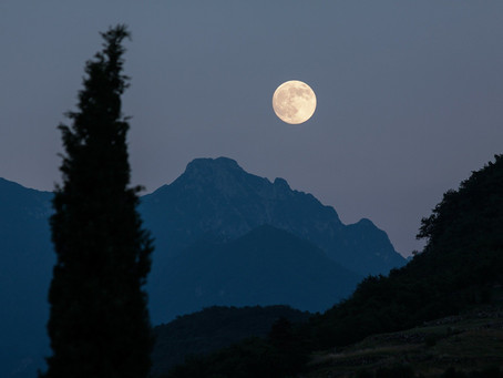 La luna piena di oggi in Sagittario