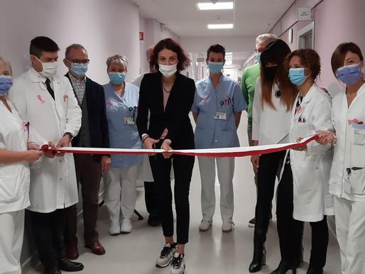 Taglio del nastro per il centro multidisciplinare per la cura del tumore al seno del Santa Chiara