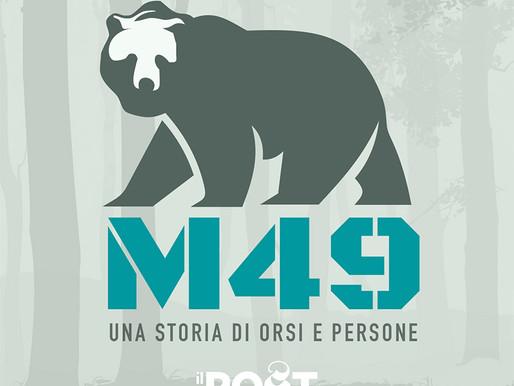 Orso M49: la sua storia diventa un podcast