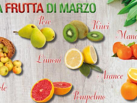 La frutta e la verdura del mese di marzo