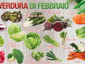 La frutta e verdura di stagione del mese di febbraio