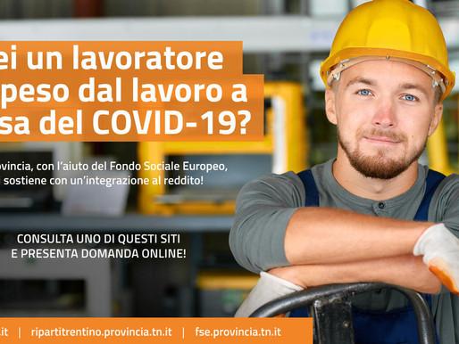 Covid e integrazione al reddito: domande entro il 30 novembre
