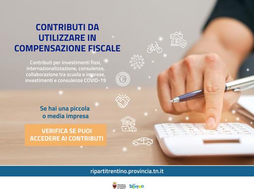 Al via i contributi provinciali per piccole e medie imprese da utilizzare in compensazione fiscale