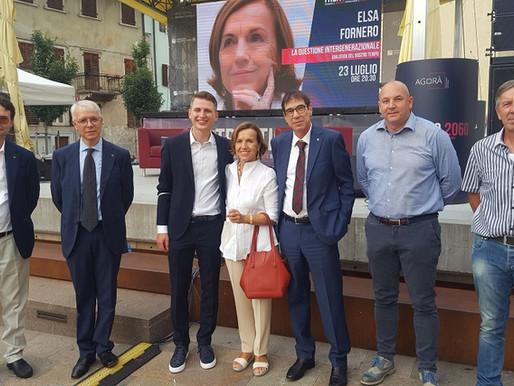"""Elsa Fornero ha aperto a Borgo Valsugana il """"Festival del pensiero critico - Trentino 2060"""""""