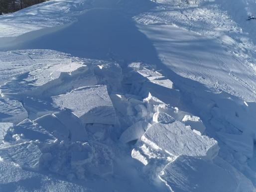 Aumento pericolo valanghe per la presenza di neve fresca e forte vento