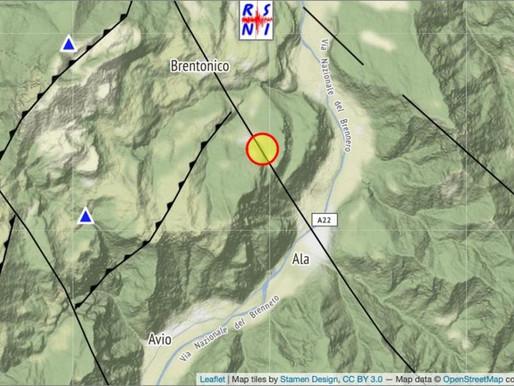 Terremoto in Trentino meridionale: nessun danno a persone o cose