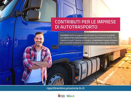 Imprese dell'autotrasporto: al via le domande per i contributi