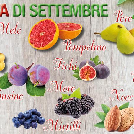 Ultimi scampoli d'estate con la frutta e la verdura di settembre