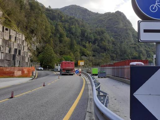 """Lavori al viadotto Pontet: per snellire il traffico è arrivato il semaforo """"intelligente"""""""