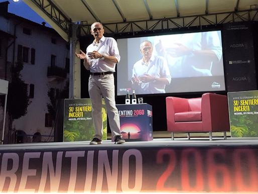 """Carlo Cottarelli ieri sera a Borgo Valsugana al """"Festival del pensiero critico - Trentino 2060"""""""