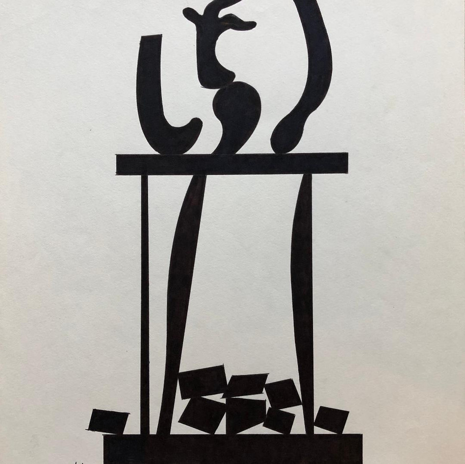Sculpture Drawing No. 18