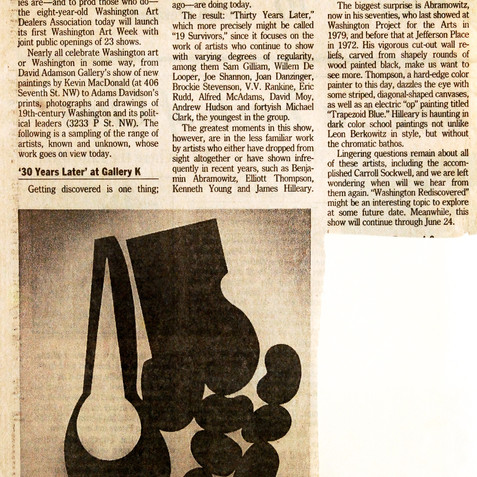 Gallery K review, 1989
