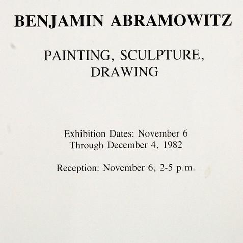 Middendor Gallery solo exhibition, 1982