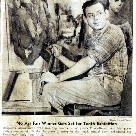 Grand prize, The Washington Times Herald Art Fair, 1947