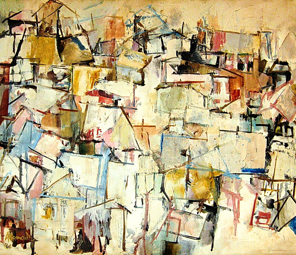 Houses, 1965 by Benjamin Abramowitz