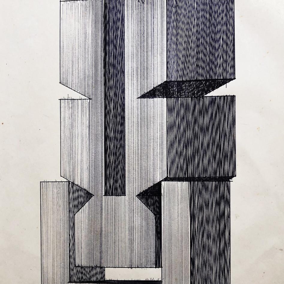 Sculpture Drawing No. 12