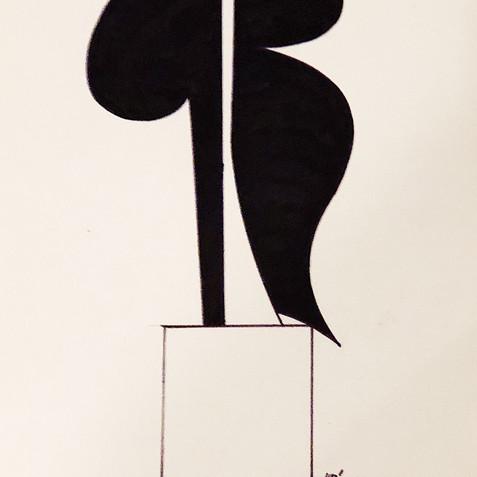 Sculpture Drawing No. 4