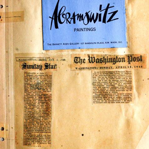 Reviews of the Barnett Aden solo exhibition, 1948