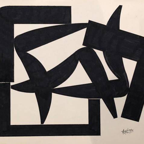 Sculpture Drawing No. 21