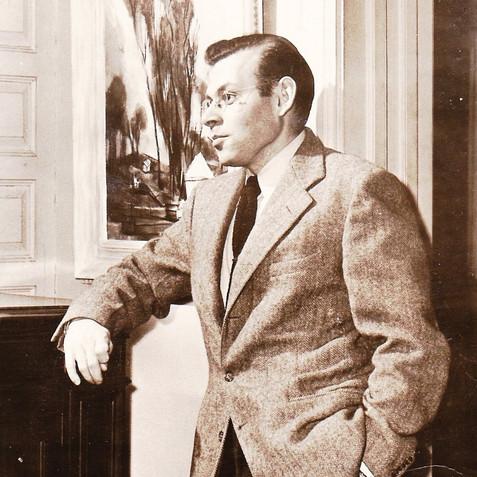 At the Barnett Aden solo exhibition, 1948