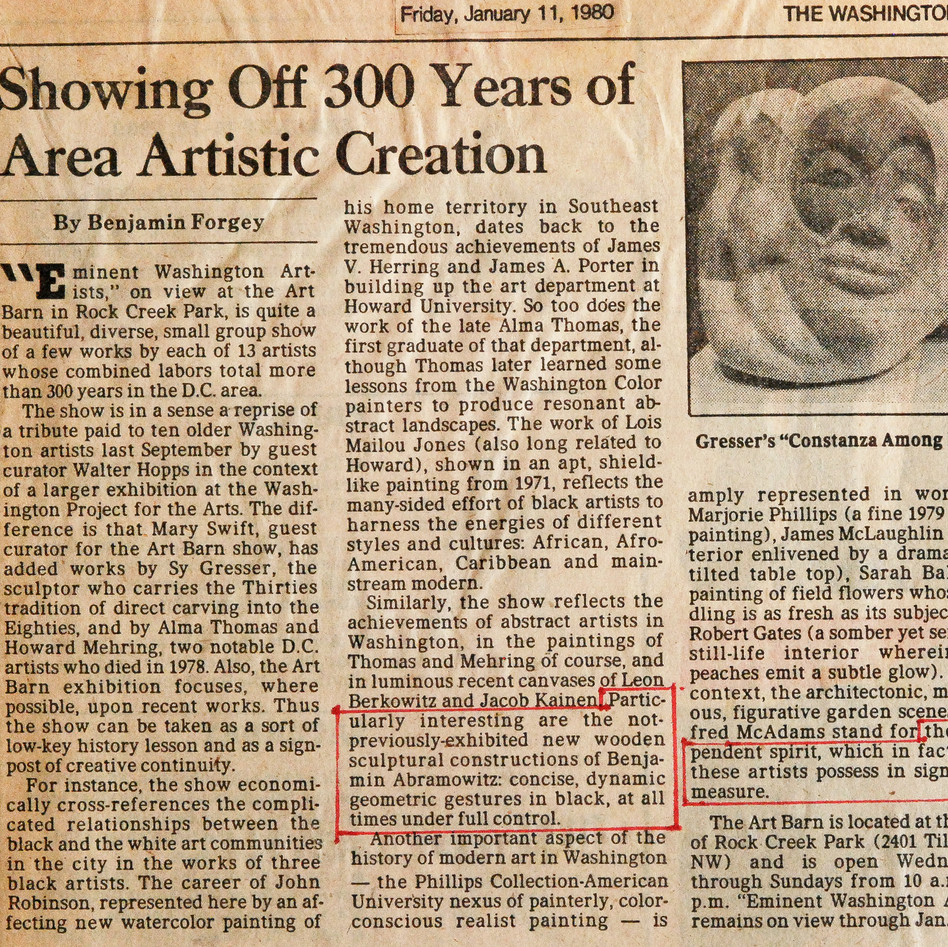 Eminent Artists, review by Ben Forgey, 1982