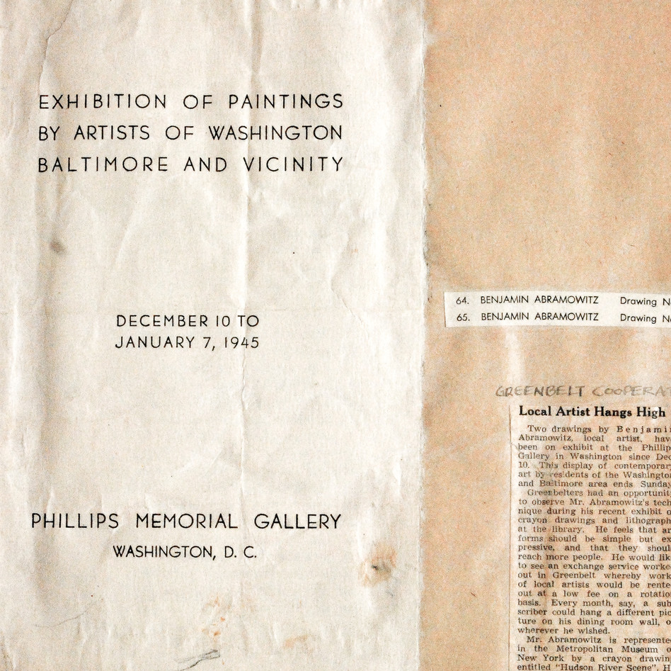 The Phillips Gallery, 1945