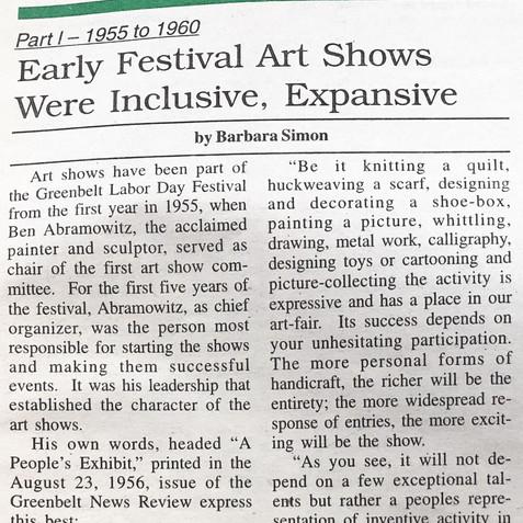 Greenbelt review, appreciation of artist