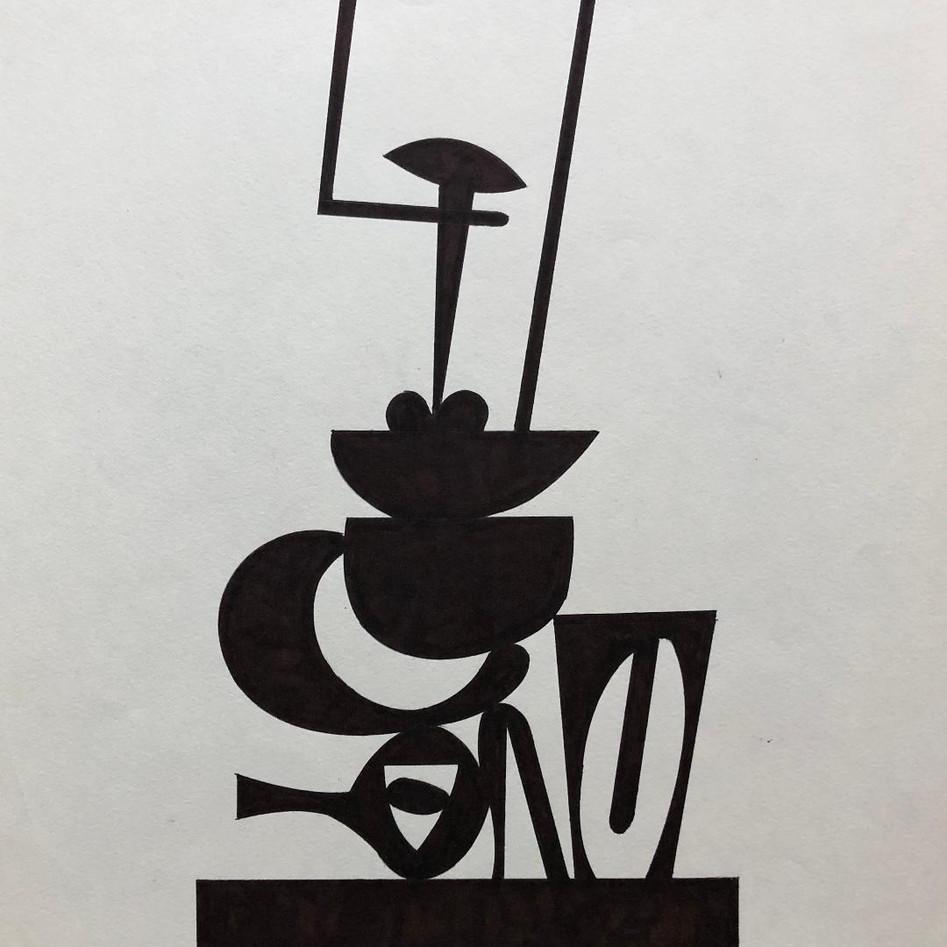 Sculpture Drawing No. 15