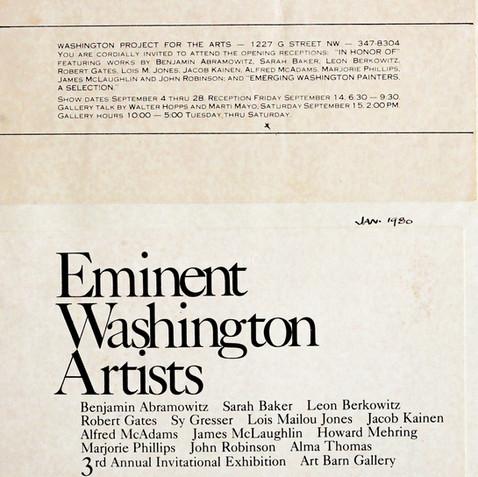 WPA Eminent Washington Artists, 1980