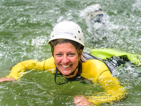 Canyoning im Herbst