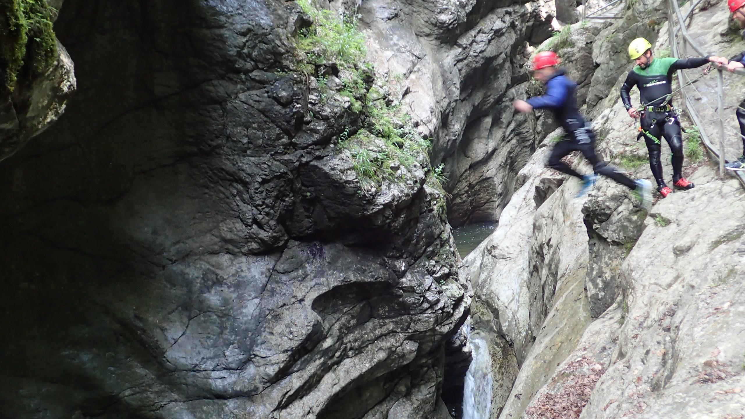 Canyoning in der Nähe von Stuttgart