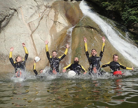 Canyoning Gruppenerlebnis