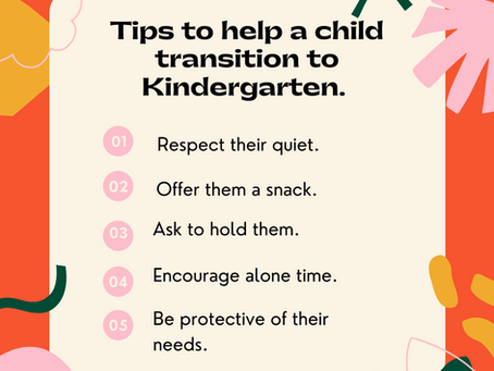 5 Tips to Help Transition to Kindergarten