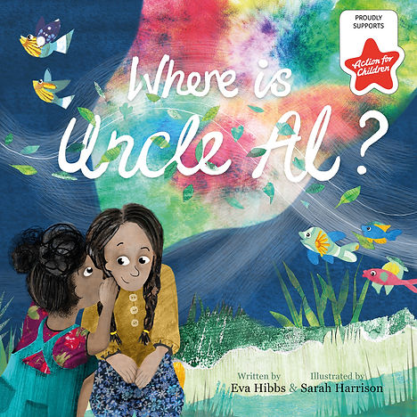 Book Cover - Where is Uncle Al? Picture Book about Grief by Eva Hbbs and Sarah Harrison Illustration