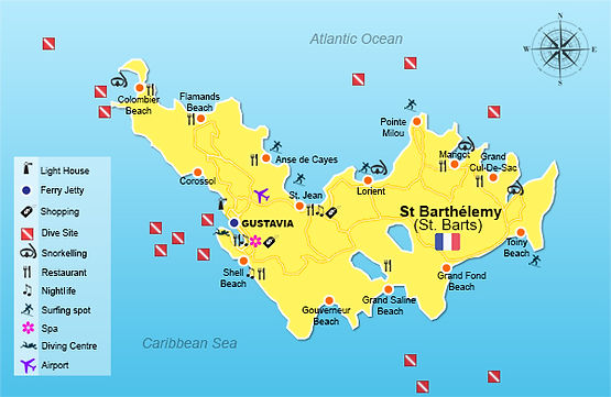 Map of St. Barths