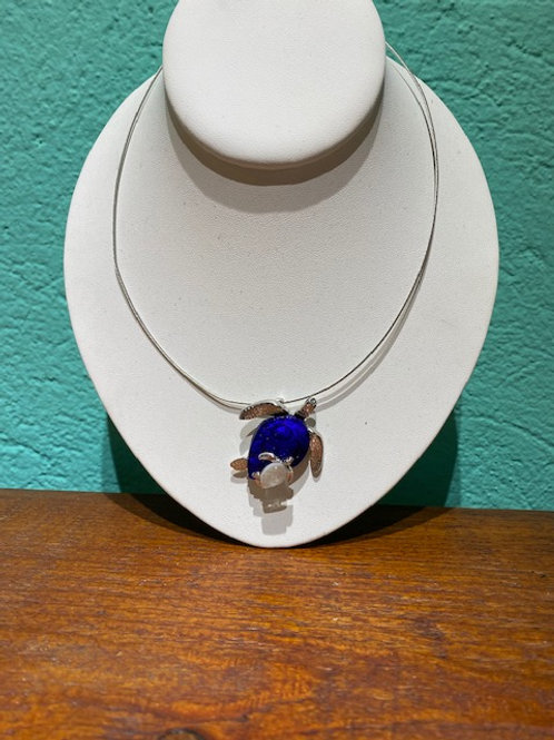 Mama Turtle Glass Necklace