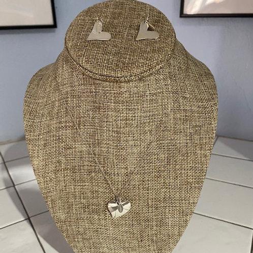 Saba HeartNecklace and Earring Set