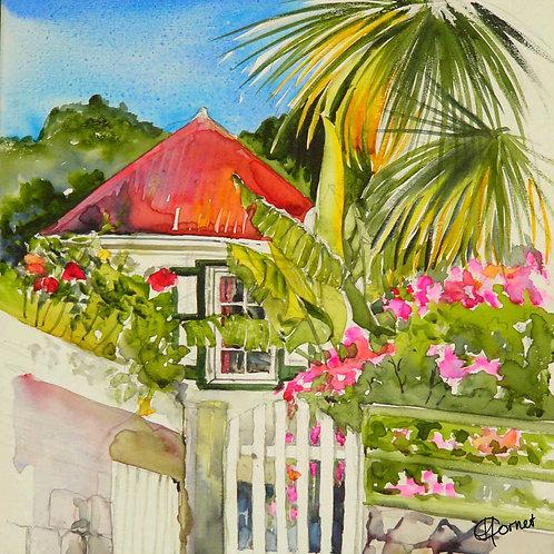 Saba Cottage napkin-Heleen Cornet