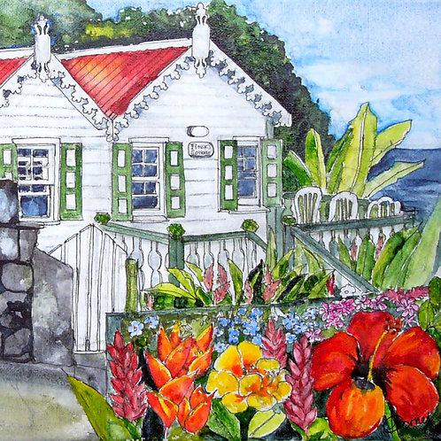 Flossie's Cottage napkin-Heleen Cornet